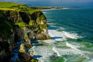 50303945 - cliffs near portrush in northern ireland
